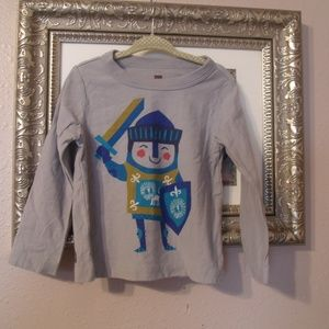 Tea Collection Gray Penguin Knight Graphic Shirt